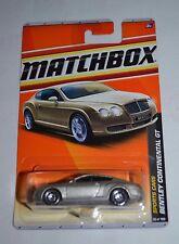 2010 MATCHBOX SPORTS CARS BENTLEY CONTINENTAL GT LIGHT GOLD 36/100 VHTF! RARE !!