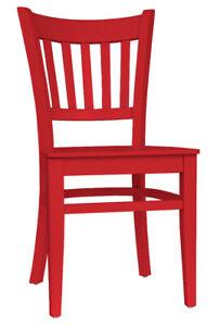 Set 2 Stühle Stuhl Esszimmerstuhl Küchenstuhl Holzstuhl Buche Massiv rot T002