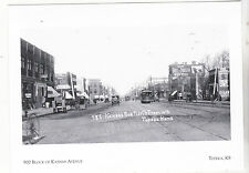 """900 Block of Kansas Avenue"" -1908- @ *Topeka, Kansas  {Postcard} (A78-1)"