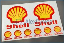 Shell Style Ferrari Sponsor Decals Stickers Kit Oil Gas Petrol