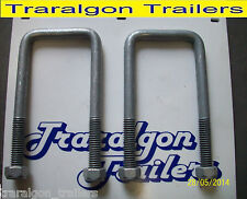 2x square galvanized gal ubolts u bolts 60mm 80 110 135 for boat trailer axle J