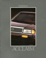 1992 Plymouth Acclaim Brochure/Catalog/Flyer with Color Chart