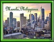 Philippines - MANILA - Travel Souvenir Flexible Fridge Magnet