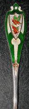 Bright Enamel Handle Sault Ste. Marie, Canada Sterling Souvenir Spoon