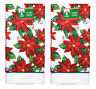2 Pack Red Floral Christmas Poinsettias Kitchen Dish Hand Towels FREE SHIPPING
