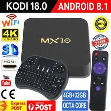MX10 Android 8.1 Wifi 32GB TV BOX KODI 18 OCTA Core Media Player with Keyboard