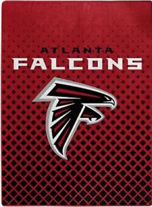 Atlanta Falcons Super Size Faded Glory 60X80 Royal Raschel Skyline Blanket Throw