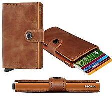 Tarjetero Secrid protector de tarjetas RFID mini cartera Coñac