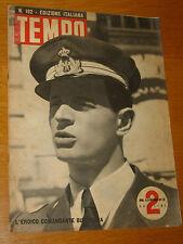 TEMPO 1942/182=CARLO EMANUELE BUSCAGLIA=SALVATORE QUASIMODO=RECORD DELL'ORA=