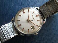 Bulova 11 ALCD 1965 Vintage Mano-cuerda mecánico Reloj para Hombres EE. UU.