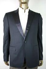 Gucci Men's Dark Blue Wool Signoria Tuxedo Blazer Jacket 52R/US 42R 189527 4140