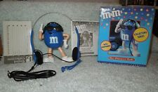 M&M's  BLUE Character AM/FM Radio NIB Mint Condition Tested-WORKS!