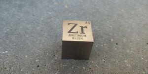 1 inch 25.4 mm Zirconium Zr metal element cube periodic table 99.2% pure