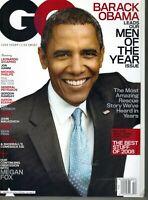 BARACK OBAMA GQ Magazine DECEMBER 2008 12/08 MEGAN FOX MEN OF YEAR