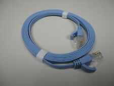 2M-6FT RJ45 CAT6a BLUE FLAT ETHERNET-INTERNET LAN NETWORK CABLE WIRE CORD (T11)