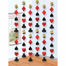 6 Place Your Bets Casino Playing Card Suit 7ft String Party Decorations