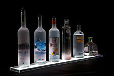 "Armana Acrylic NEW 63"" LED Lighted Liquor Shelf, 5'3"" Bottle Display Shelve"