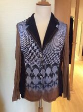 Just White Jacket Size 20 BNWT Navy Brown Sequin Detail RRP £127 NOW £57