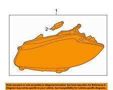 JAGUAR OEM 2012-2015 XF Right Headlight Non-Adaptive C2Z26712