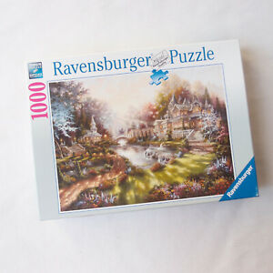 RAVENSBURGER 1000 Piece Jigsaw Puzzle Morning Glory Fantasy Cottage Complete