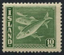 Iceland 1939-1940 SG#247, 10a Green Cod, Fish P14x13.5 MH Cat £90 #A90738