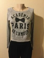 ACADÉMIE DE L'AMOUR PARIS By MODERN LUX Sweater GrayColor JUNIOR Size M
