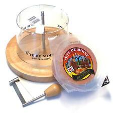 Komplett Set Käsehobel Tete de Moine RESERVE halber Laib Haube