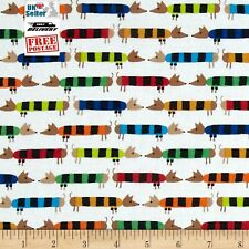 Organic Cotton Fabric, Daschunds from Favourites by Ed Emberley Cloud9 Quilters