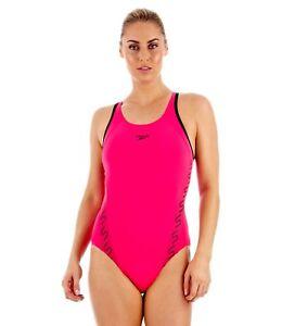 """Speedo Monogram Muscleback Swimsuit Swimming Costume / UK 18 (40"""")"""