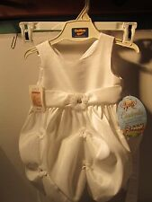 GIRLS CINDERELLA BRAND BY SPECIAL OCCASIONS WHITE SPRING DRESS SIZE 24M NWT
