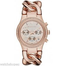 NEW MICHAEL KORS MK3247 LADIES ROSE GOLD RUNWAY TWIST WATCH - 2 YEAR WARRANTY
