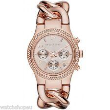 Nuevo MK3247 oro rosa Michael Kors reloj de mujer de pasarela Twist - 2 Año De Garantía