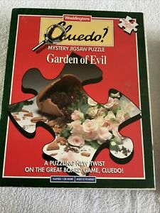 Waddingtons Cluedo 750 Piece Mystery Jigsaw Garden Of Evil 1991