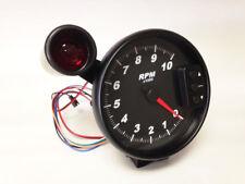 "5"" C2 Black Pedestal Tachometer, Peak Recall, Shift Light, Black Bezel 3096BLK"
