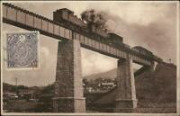 Japan Where? RR Train on Bridge c1910 USED Postcard - Publ in Yokohama