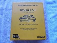 Renault 9 11 Owner Repair Manual Peter Russek 7701387790
