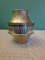 Avon Gold Candle/Trinket Jar With Lid