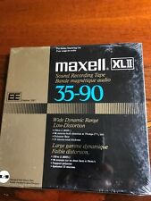 "MAXELL XLII (EE) 35-90 TAPE 1800' 7"" PLASTIC REEL IN ORIGINAL BOX - SEALED"