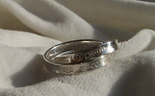 "TIFFANY & CO. ""1837"" COLLECTION INTERLOCKING RING!!! SIZE 8.5!"