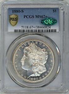 1880-S PCGS/CAC MS-67+ Morgan Silver Dollar ~ A FANTASTIC COIN ~ 1c START