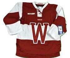 Reebok WCHA Wisconsin Badgers Premier Sewn Youth Hockey Jersey NWT S/M