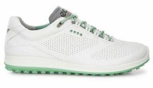 NEW ECCO Ladies BIOM Hybrid 2 PERF Golf Shoes, EU 37 US 6/6.5, WHITE/GREEN