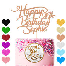 Personalised Birthday Cake Topper Customized Any Age Name 13 16 18 21 30 40 60