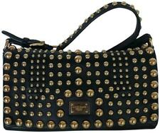 Dolce & Gabbana Black Leather Studded Shoulder Bag