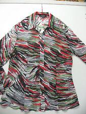 TAIFUN by GERRY WEBER - langarm Bluse, Rot, Grün, Weiß,.. (transparent), Gr. 44