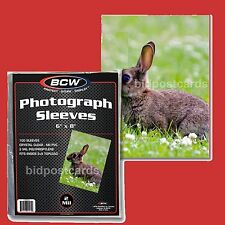 *100* BCW 6x8 Crystal Clear Soft Poly Sleeves for Large Postcards & Photographs