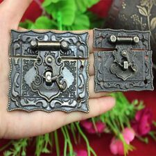 Box Cabinet 2 Pcs Latch Bronze Hardware Antique Metal Buckle Hasps Style