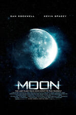 Framed Print - Moon Movie Poster (Picture Drama Mystery Sci-Fi Kevin Spacey Art)