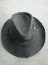 STETSON Diaz cotton travelers hat - Size Med/Large - Brown - New with tags -