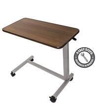 Vaunn Medical 4341975217 Adjustable Medical Bedside Table with Wheels